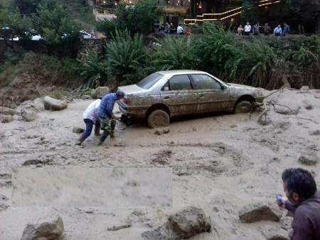 جاری شدن سیلاب در ماسوله
