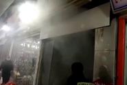 مهار آتش سوزی در بازار شیک رشت