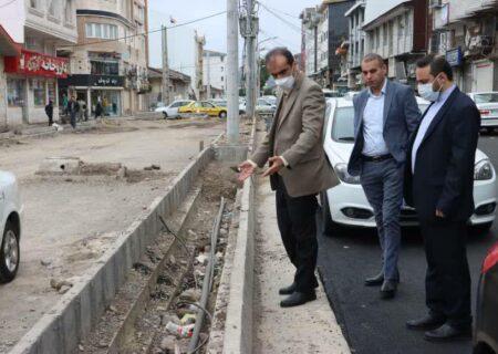 بازدید میدانی شهردار رشت از برخی پروژه های عمرانی شهر