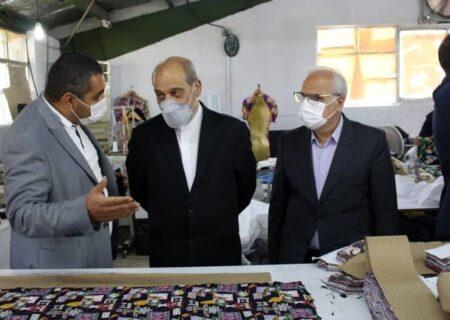 بازدید مشاور رییس جمهور از چند واحد تولیدی مستقر در شهرک صنعتی حسن رود انزلی