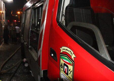 آتش سوزی واحد مسکونی در رشت