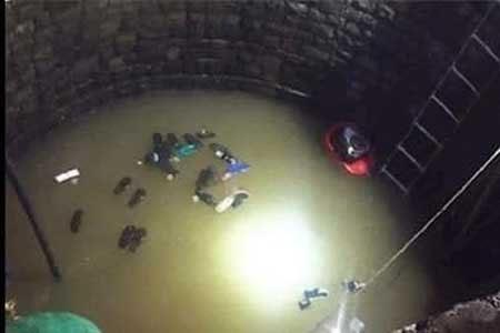 سقوط ۳۰ نفر در چاه برای نجات یکی