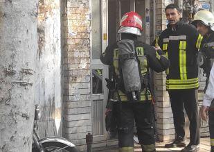 مهار آتش سوزی یک واحد آپارتمانی در رشت